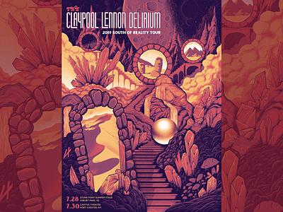 Claypool Lennon Delirium Poster claypool lennon screenprint gigposter poster illustration
