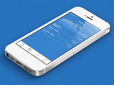 Coinbase Client for iPhone ios iphone ui coinbase bitcoin finance money transaction graph chart