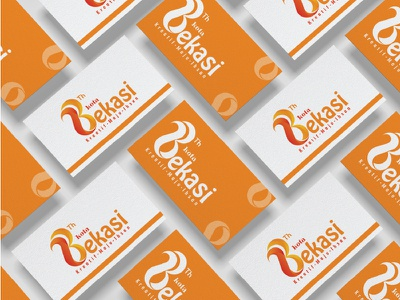 business card 23th logo of Bekasi City stationary design business card design business card card design visual visual identity identity branding identity design identity branding design brand identity brand design branding brand logo design logodesign logotype logos logo