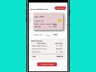 DailyUI Day #002 - Credit Card Design minimal ux typography dailyui