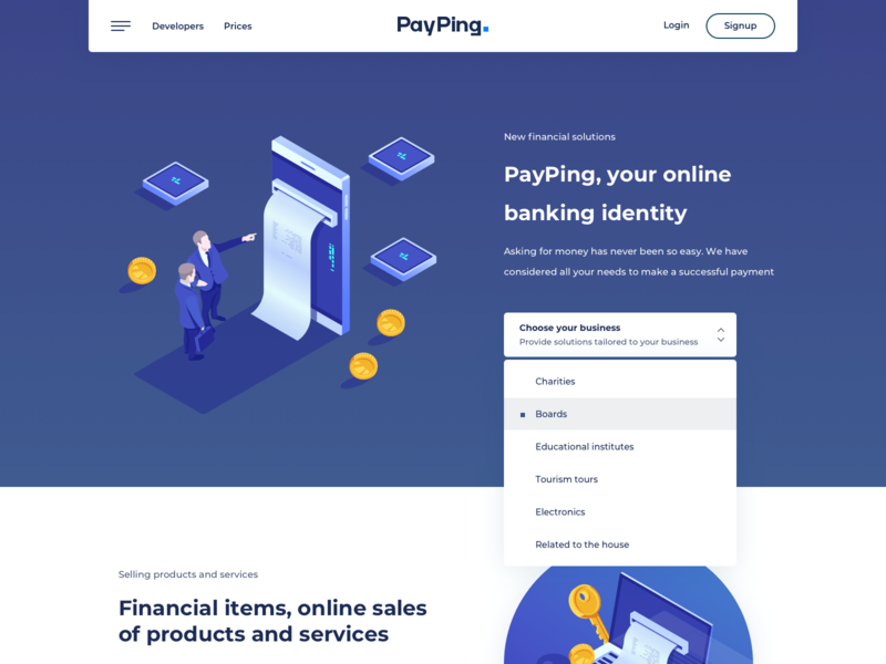 Payping Landing Page iran payment fintech landing page landing payping