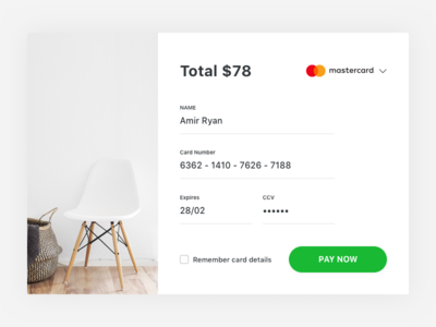 Credit Card Checkout   Day 002 DailyUI