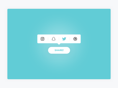 Social Share | Day 010 DailyUI tooltip popup button ui design ux ui challenge instagram social share dailyui social share
