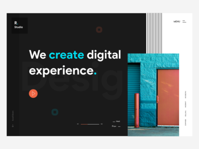 Digital agency Header Concept