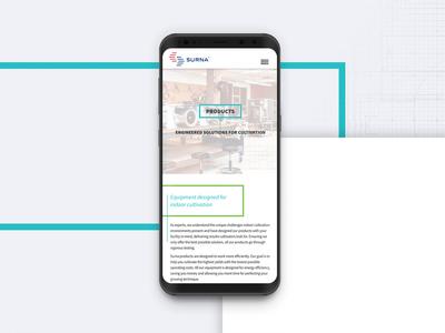 Surna Product Design app