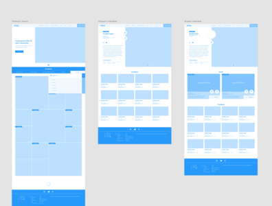 Wireframe sketches for cannabis website