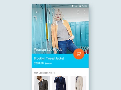 Shopping App Material Design shopping material design android app lookbook