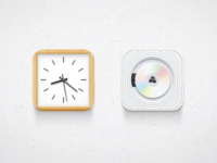 Muji clock & cdplayer