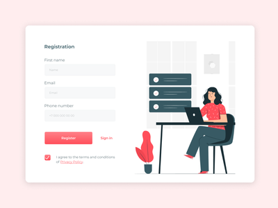 Registration form ux ui sing up registration form registration account popup web ux ui design