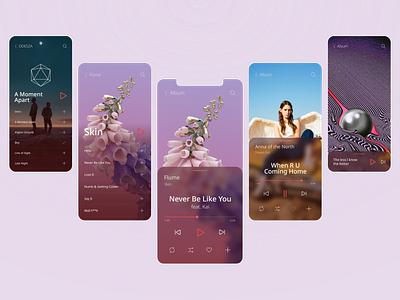 Design concept of Music Player music player music app ios mobile design mobile app mobile ux ui ux ui design