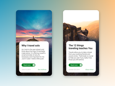 Cards with articles in blog user experience user interface cards blog post blog web ux ui ux ui design