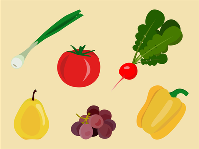 Some fruits and vegs in Adobe Illustrator illustration art illustrations adobe illustrator illustration