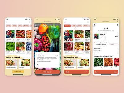 Mobile app design concept for Harvest delivery mobile design mobile mobile app design mobile app mobile ui uxuidesigner uxui design ux  ui uxuidesign ux design ui design uxdesign uidesign uxui ux ui