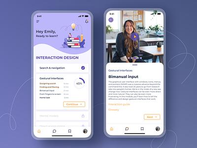 Online learning app interface app design ios interface design mobile app design mobile app ux design ui design uxui ux ui