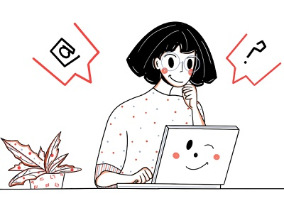 Stay home👨🏻💻👩🏻💻 loose line face office working workspace work from home wfh remote work home office work loose ui design character design design woman clean minimal illustration character fresh