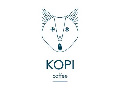 Kopi Coffee Logo branding illustration design logo