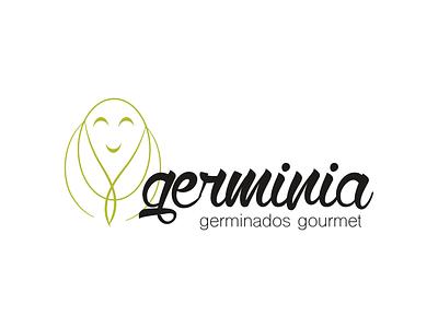 Germinia's Sprouts Logo illustration design logo branding