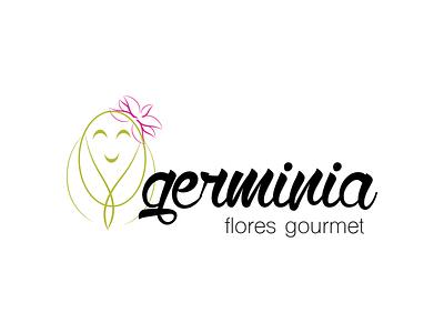 Germinia's Edible Flowers Logo illustration design logo branding