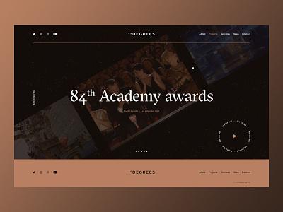 45 Degrees - Cirque du Soleil ui web design art direction