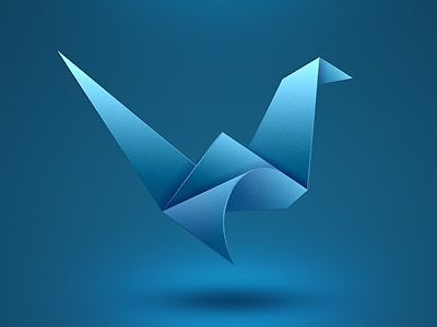 Travel Agency Origami Logo origami paper logo