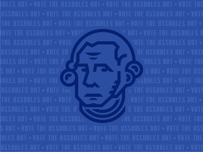 Vote the Assholes Out george washington george thicklines illustration election 2020