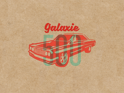 64' Ford Galaxie 500 muscle cars texture illustrator illustration cars vintage galaxie ford