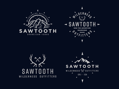 Sawtooth Wilderness Outfitters badgedesign badge graphic design idaho sawtoothwilderness sawtooth illustration logo design branding logo