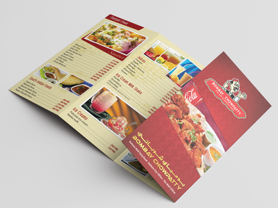 Folded Brochure Menu Design