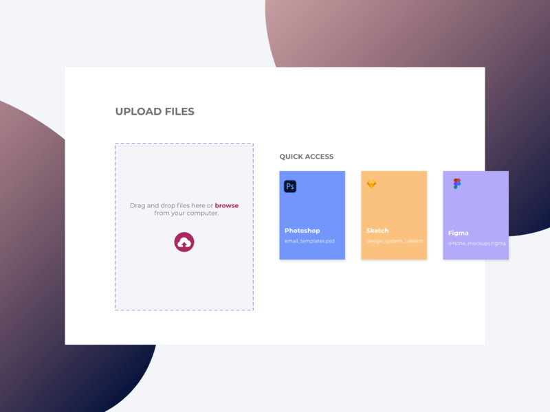 Daily UI 031 | Upload file dailyui daily ui daily 100 challenge design