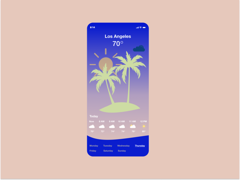 Daily UI 037 | Weather app 037 weather app ui dailyui daily ui design daily 100 challenge