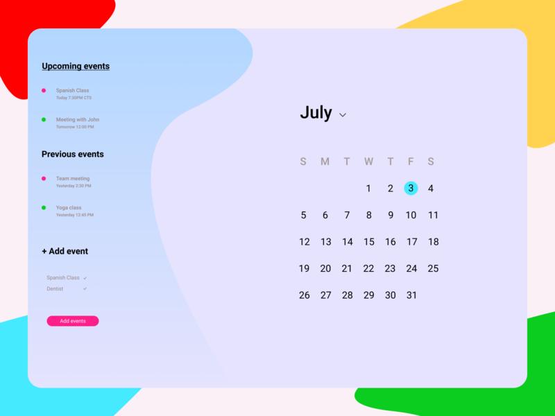 Daily UI 038 | Calendar calendar 038 dailyui ui daily ui daily 100 challenge design