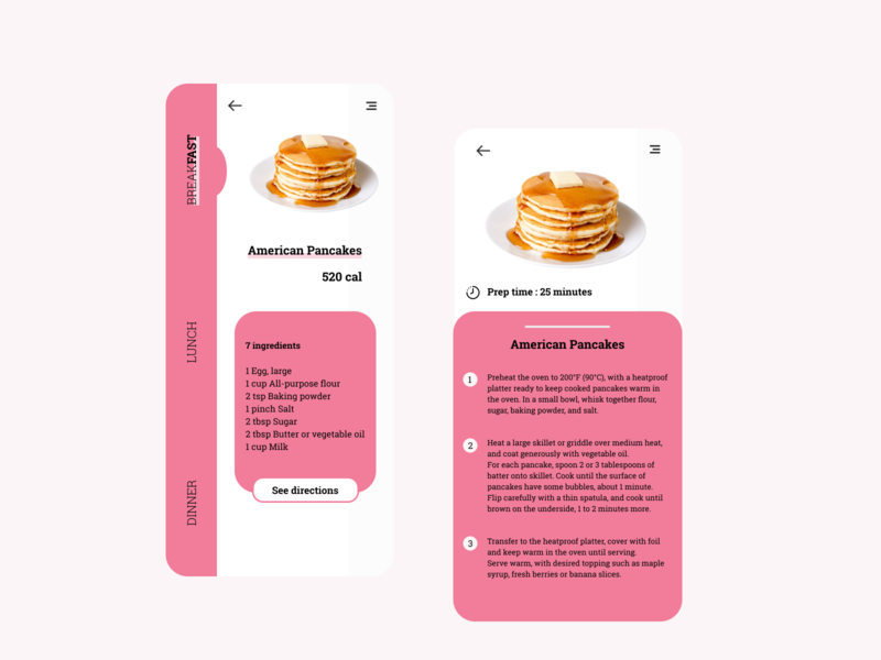 Daily UI 040 |  Recipe daily ui 040 040 recipe ui dailyui daily ui design daily 100 challenge