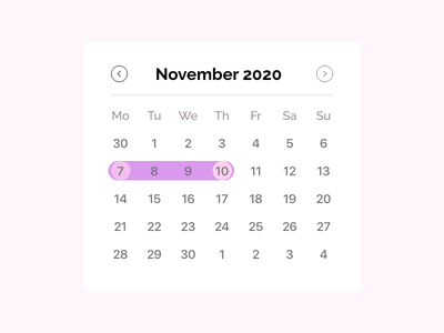 Daily UI 080 | Date picker daily ui challenge daily ui080 080 date picker daily ui daily 100 challenge design