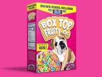 3ft donation cereal box