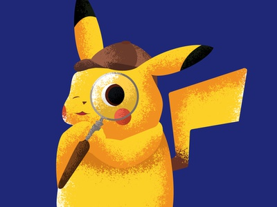 That's Very Twisty twist movie detective pikachu pikachu pokemon love conceptual stipple art shading illustration vector