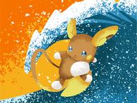 Surfing Raichu!