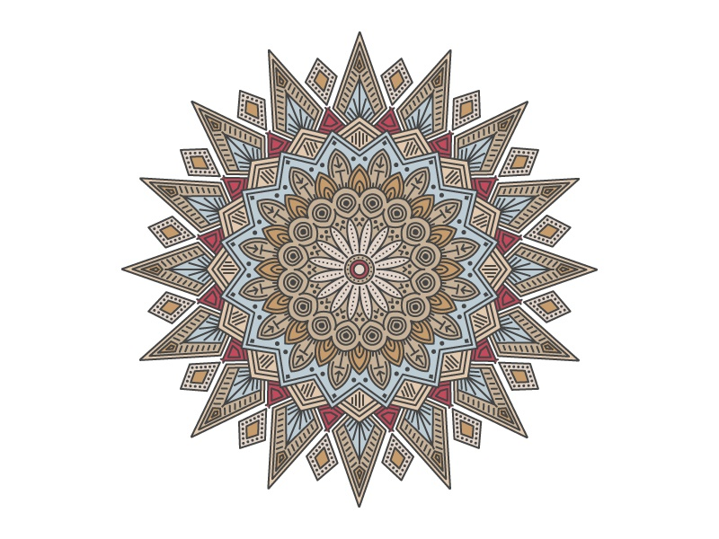 Mandala 2 color