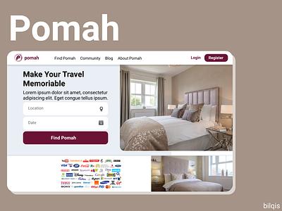Dribbble Pomah web design traveling app redesign studying flat idnakhwat ux ui thyratiara design app