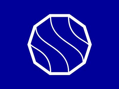 Stokes Economics - logomark cartography topography s blue pms identity branding stroke line logo design