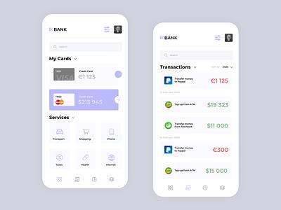 EURO Bank mobile bank application uxdesign app branding flat uxui ux ui design minimal