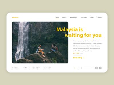 Adventure uxdesign website branding web uxui flat ux ui design minimal