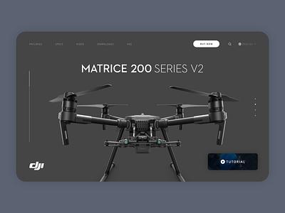 DJI Concept uxdesign branding website web uxui flat ux ui design minimal
