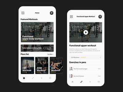 Workouts sport web application uxdesign app uxui flat ux ui design minimal