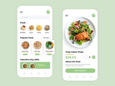 Foode fresh application uxdesign app uxui flat ux ui design minimal