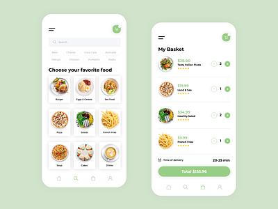 Foode #2 fresh application uxdesign app web uxui flat ux ui design minimal
