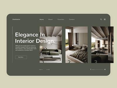OneInterior branding uxdesign website web uxui flat ux ui design minimal