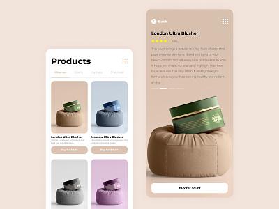 Blush & Rush - Mobile Design mobile design web design uxui minimal design ux ui web mobile app website