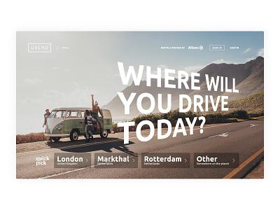 Urend website uxui website web ux ui flat design minimal