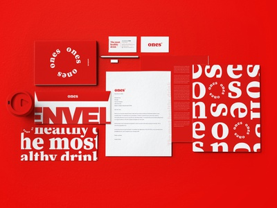 Ones Identity logo brand branding flat design minimal