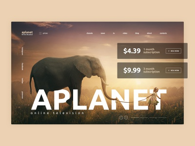 Aplanet website branding provider services service media planet uxui website web ux ui design minimal